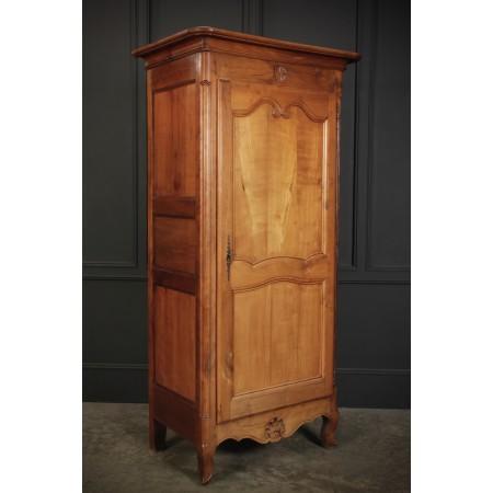 Slim Single Door Applewood Wardrobe