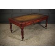 Fine Victorian Mahogany Partners Writing Table