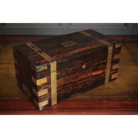 Rare Victorian Coromandel Writing Slope