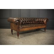 Superb Hand Dyed Buttoned Leather Chesterfield Sofa