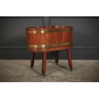 Oval Mahogany Planter / Wine Cooler