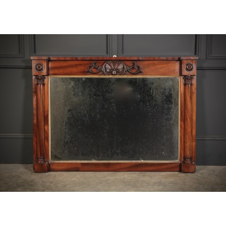 William IV Mahogany Overmantle Mirror