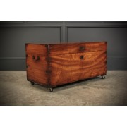 19th Century Military Camphor Wood Trunk
