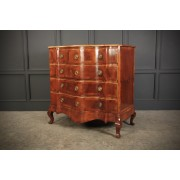 Walnut Serpentine Shaped Chest of Drawers