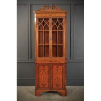 Marquetry Inlaid Corner Cabinet by Edwin & Roberts