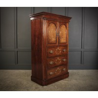 Marquetry Inlaid Rosewood Tallboy