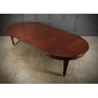 Large Inlaid Mahogany Extending Dining Table