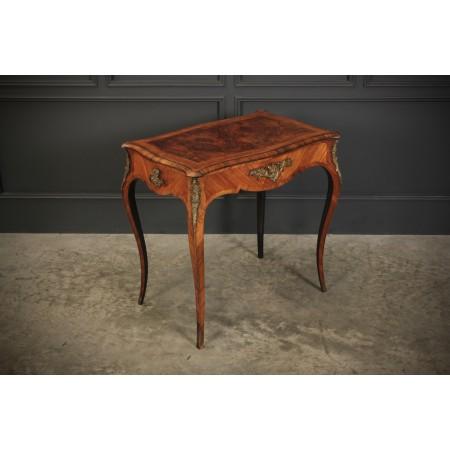 Stunning Walnut Bureau Plat Table