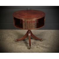 Rare Revolving Bookcase Drum Table