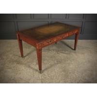Large Figured Walnut Writing Table Desk 5ft x 3ft