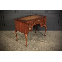 Queen Anne Style Serpentine Walnut Desk