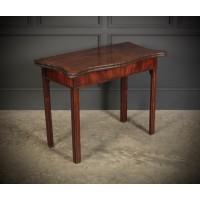 George IV Serpentine Shaped Tea Table
