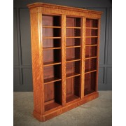 Large Triple Satinwood Open Bookcase