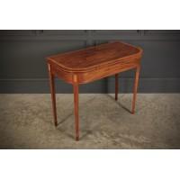 Regency Inlaid Mahogany Tea Table