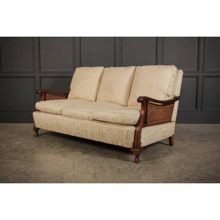Mahogany 3 Seater Bergere Sofa