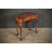 Walnut Queen Anne Style Games Table