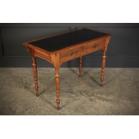 Walnut Writing Table by Jas Shoolbred