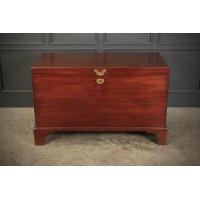 Rare 18th Century Mahogany Blanket Box