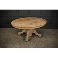Raw Carved Oak Centre Table