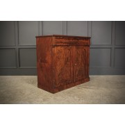 Victorian Fiddleback Mahogany Chiffonier Cabinet