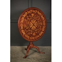 18th Century Dutch Marquetry Inlaid Occasional Table