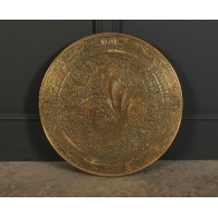 Large Decorative Embossed Brass Object