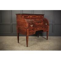 Beautiful Large Flame Mahogany Cylinder Desk