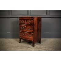 Small Rosewood Bachelors Chest of Drawers