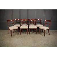 Set of 8 William IV Cuban Mahogany Dining Chairs