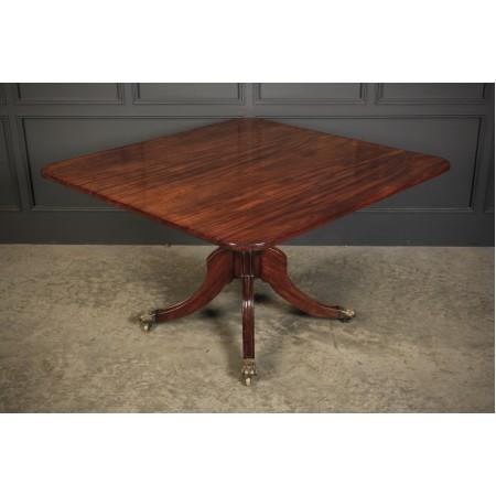Solid Cuban Mahogany Tilt Top Dining Table