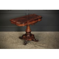 Shaped Rosewood Card Table