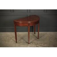 Regency Mahogany Demi Lune Inlaid Tea Table