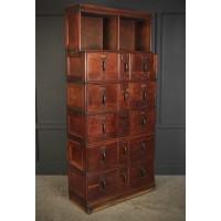 Globe Wernicke Oak Stacking Filing Cabinet