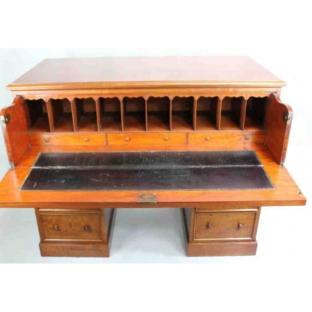 Victorian Mahogany Secretaire Desk