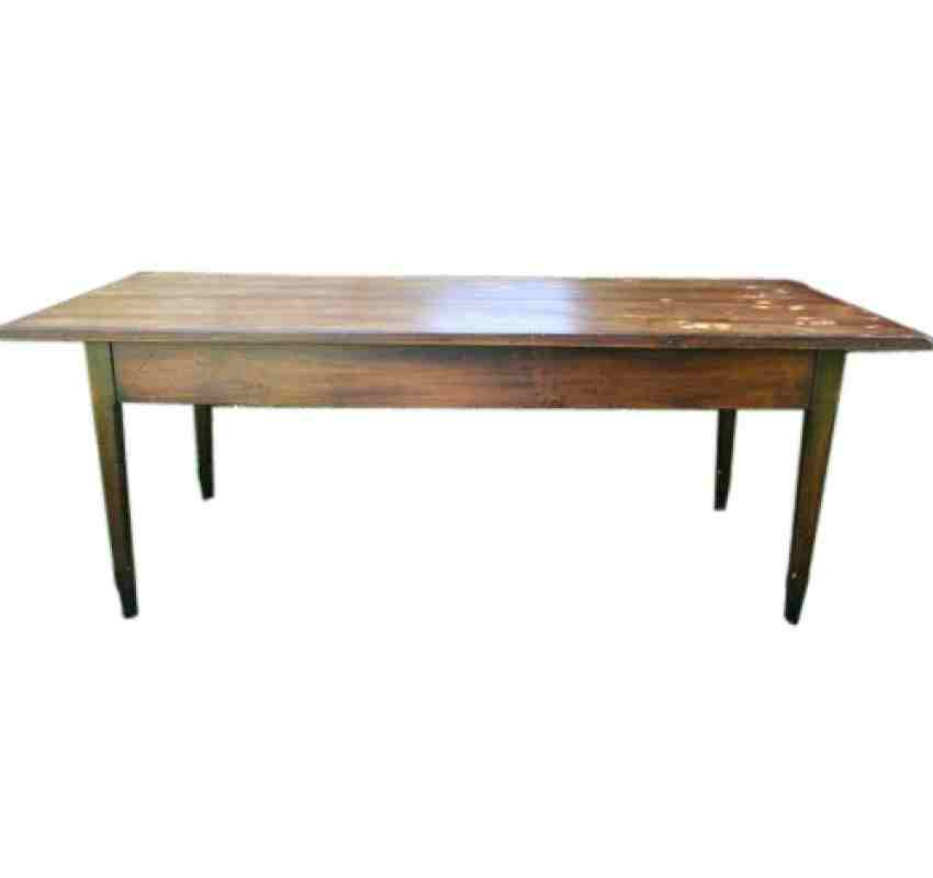 French Farmhouse Pine Refectory Dining Table 7ft9