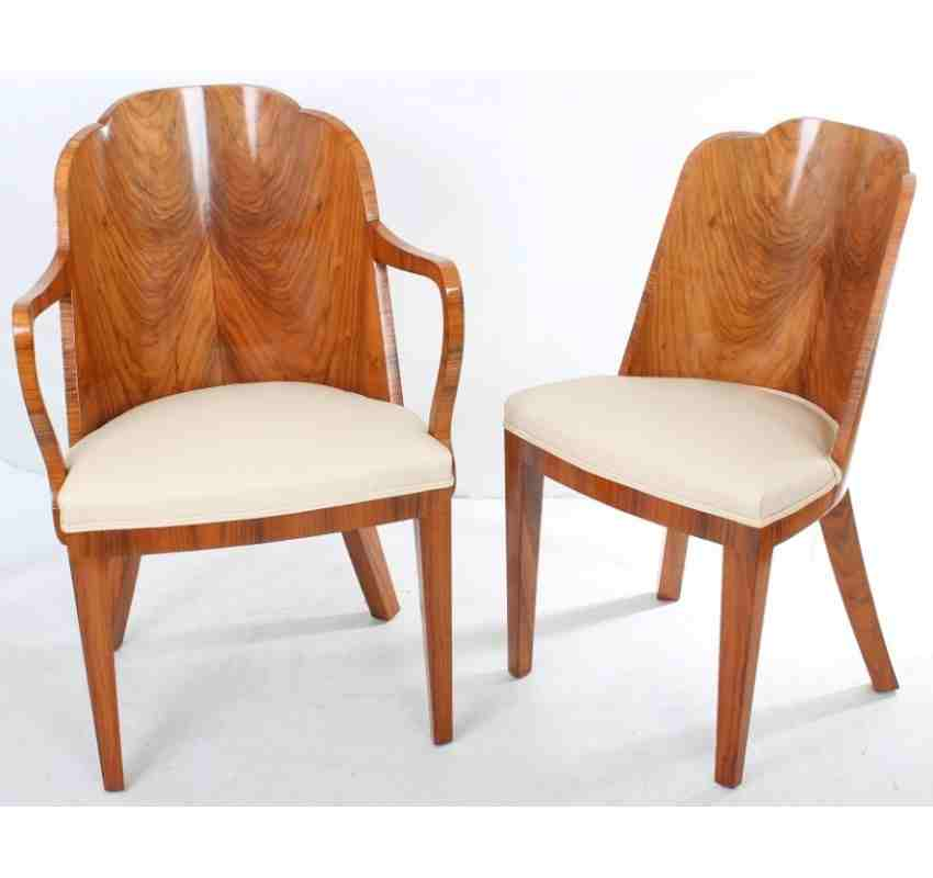 art deco dining furniture. walnut art deco dining suite table and 8 chairs furniture