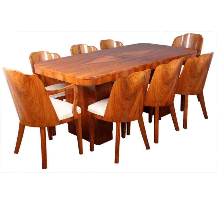 walnut art deco dining suite table and 8 chairs art deco dining table 8