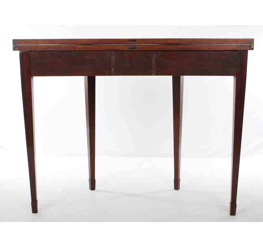 Demi lune mahogany tea table for Chaise demi lune