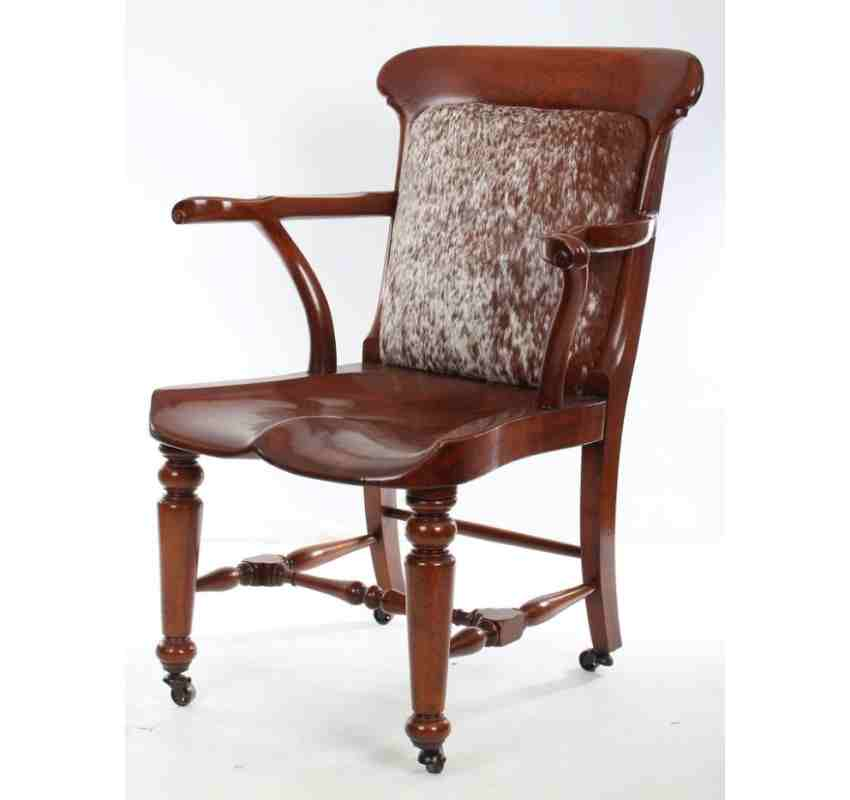 Solid Mahogany Victorian Desk Chair