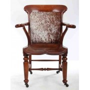 Victorian Solid Mahogany Library Office Chair