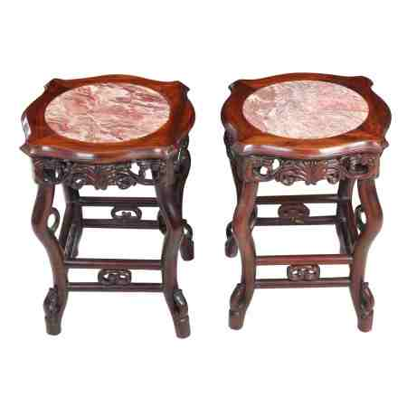 Pair of Chinese Small Hardwood Tables