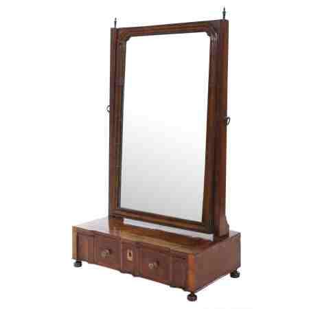 Queen Anne Walnut Toilet Mirror