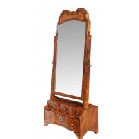 Early 18th Century Burr Walnut Dressing Table Mirror