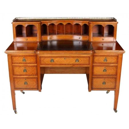 Carlton House Style Inlaid Satinwood Writing Desk