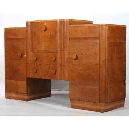 Art Deco Walnut Sideboard / Cocktail Cabinet